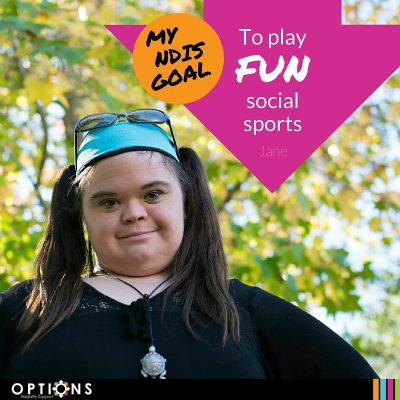 photo of jane lewis with caption of my ndis goal