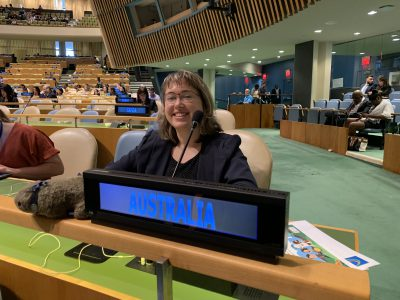 Alana at United Nations