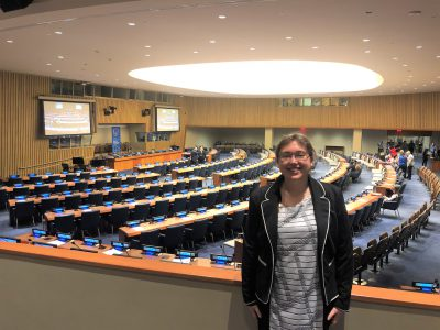 Alana at the United Nations